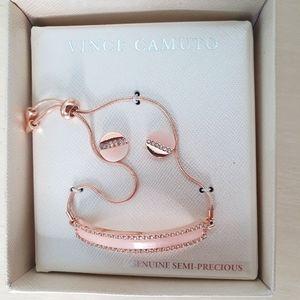 Vince Camuto Rise Gold Bracelet/Earring Set